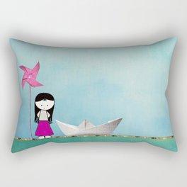 Little girl Rectangular Pillow