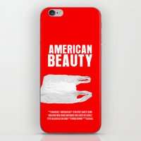 american beauty iPhone & iPod Skins featuring American Beauty Movie Poster by FunnyFaceArt