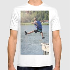 Harry Leaps! White Mens Fitted Tee MEDIUM