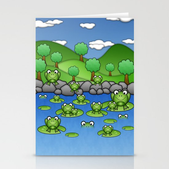 Froggies!  Stationery Cards
