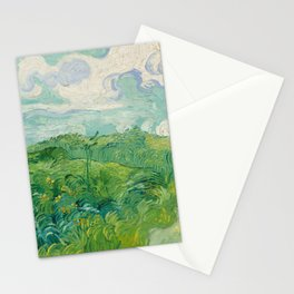 Green Wheat Fields, Auvers, 1890, Vincent van Gogh Stationery Cards