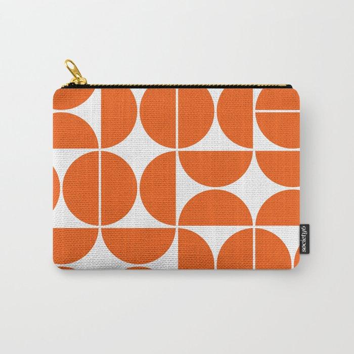 Mid Century Modern Geometric 04 Orange Carry-All Pouch