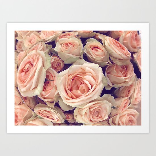 Pink Roses In A Bubble Art Print