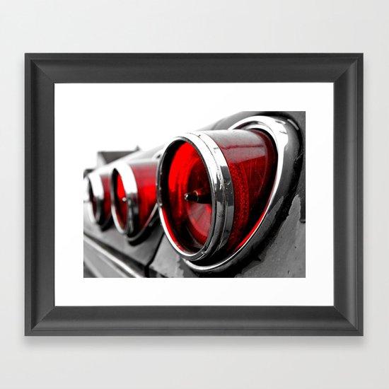 Impala taillights Framed Art Print