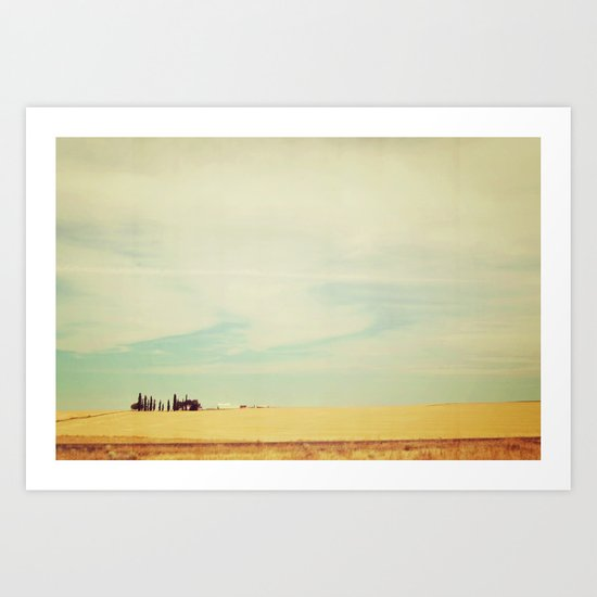 Farm Polaroid Art Print