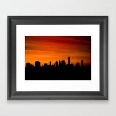 The Evolving Downtown Manhattan Skyline Framed Art Print