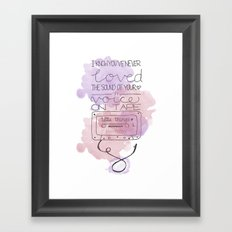 All These Little Things Framed Art Print