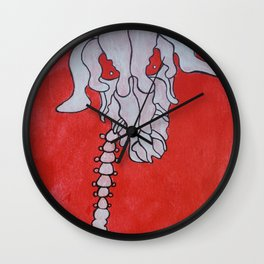 Skelleton head Deer Wall Clock