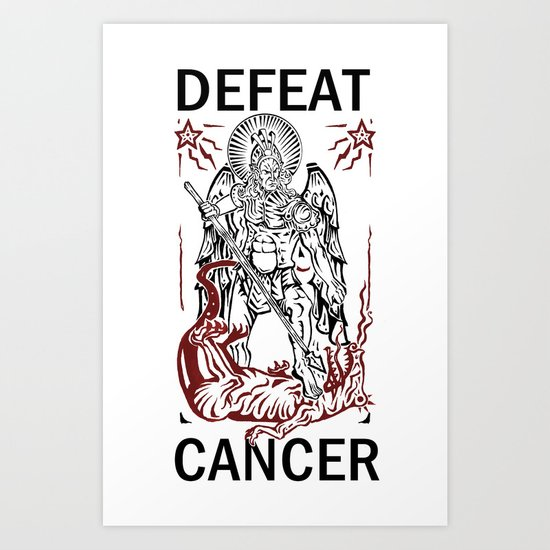 Defeat Cancer (Michael and the Dragon) Art Print