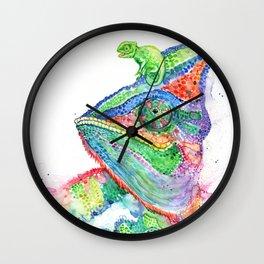 Clutcha'Chameleons Wall Clock