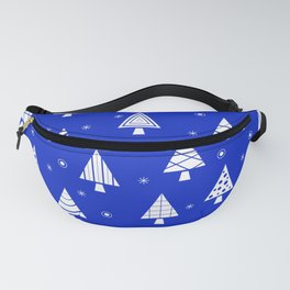 Holiday Christmas Tree Pattern (Blue) Fanny Pack