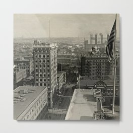 1921 Union Trust Building, City View, Providence, Rhode Island Metal Print
