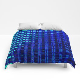 Blue in Shadows Comforters
