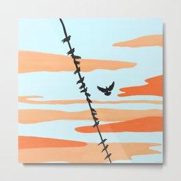 Fly (Sunset) Metal Print