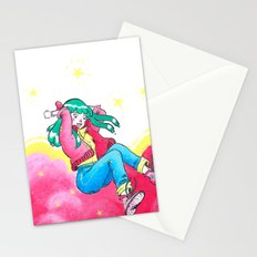 Pink Girl Stationery Cards