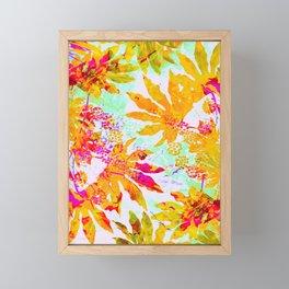 Tropical Adventure - Neon Orange, Pink and Mint Framed Mini Art Print