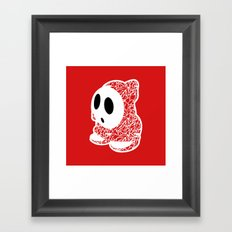 ShyGuy #CrackedOutBadGuys Framed Art Print