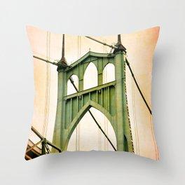 ST. JOHNS BRIDGE - PORTLAND Throw Pillow