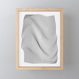 Minimal Curves Framed Mini Art Print