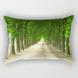 The gardens of the castle Rectangular Pillow
