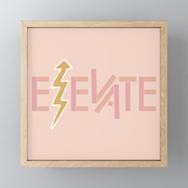Elevate Framed Mini Art Print