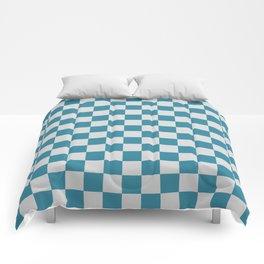 Teal and Grey Check Comforters
