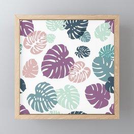 Multicolor Tropical Leaves 21 Framed Mini Art Print