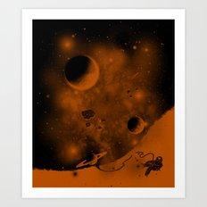 Lost in Negative Space Art Print