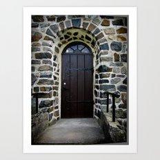 Church Door - Raelingen, Norway Art Print