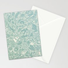 Detailed rectangle, light blue  Stationery Cards