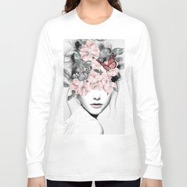 WOMAN WITH FLOWERS 10 Long Sleeve T-shirt