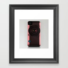 Vintage Camera III - Rosé Gold Framed Art Print