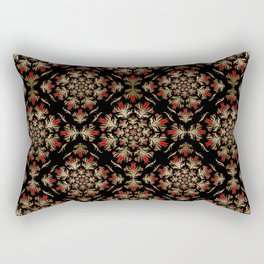 Turkish tulip - Ottoman tile pattern 15 Rectangular Pillow