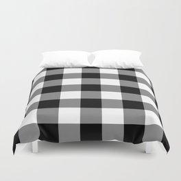Black and White Buffalo Plaid Duvet Cover