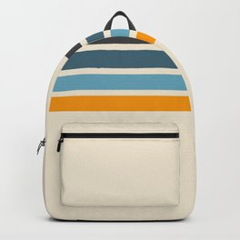 Vintage Retro Stripes Backpack