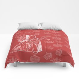 Queen of Hearts and Crowns Comforters