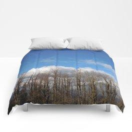 Blue Lined Skies Comforters