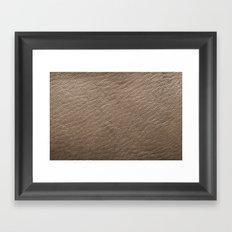 Leather Texture (Grey) Framed Art Print