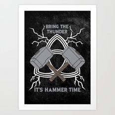 Thor - Hammer Time Art Print
