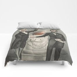 Vintage American Founding Fathers Illustration (1865) Comforters