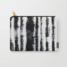 Tie-Dye Shibori Stripe BW Carry-All Pouch