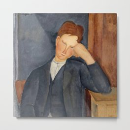 "Amedeo Modigliani ""The Young Apprentice"" Metal Print"