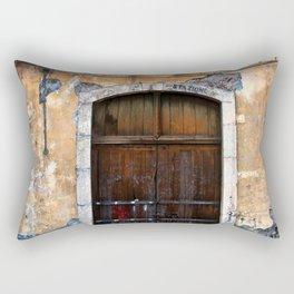 Sicilian facade of Taormina Rectangular Pillow