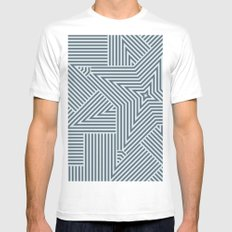 High MEDIUM White Mens Fitted Tee