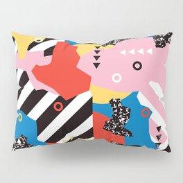Colorful Modern Geometric Memphis - Tribal 80s 90s midcentury Pillow Sham