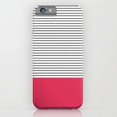 MINIMAL Pink Stripes iPhone 6 Slim Case