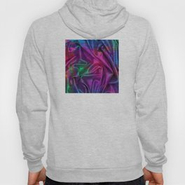 Folds of Luxurious Colors Abstract Design Hoody