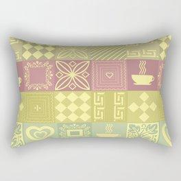 Retro .Bright checkered pattern home and garden . Rectangular Pillow