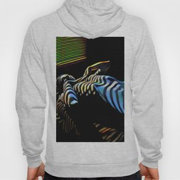 2238s-AK_5488 Nude Woman Striped by Window Blinds Rendered Composition Style Hoody