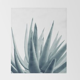 Agave Blue Vibe #1 #tropical #decor #art #society6 Throw Blanket